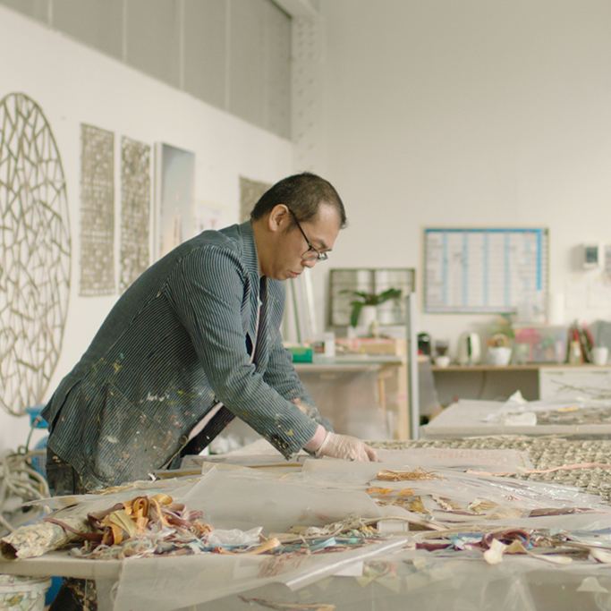 Gordon Cheung creating a master piece