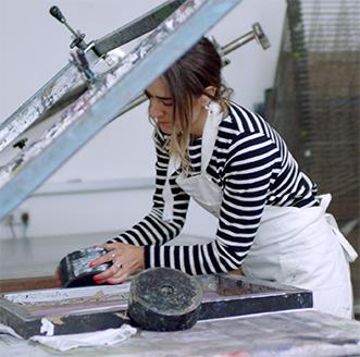 Kelly Anna working