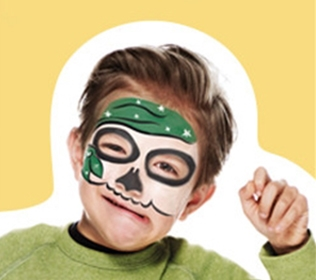Face Paint Pirate Skeleton Green
