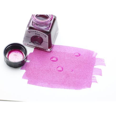 Bottle of purple Winsor & Newton Drawing ink