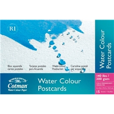 Cotman Water Colour Paper - Cold Pressed/Not Surface (Postcards) (300Gsm/140Lb) - 15 Sheets