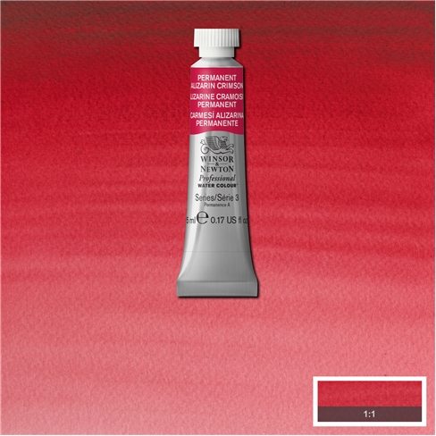 Professional Water Colour Permanent Alizarin Crimson