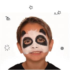 panda face paint beginners guide snazaroo